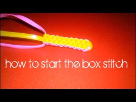 How to start the box stitch