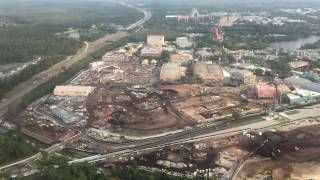 Aerial Flyover of Star Wars Land & Toy Story Land Construction - Hollywood Studios 4/4/17