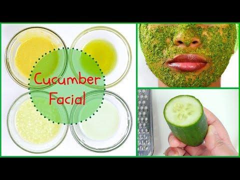 Skin Brightening & Tightening Cucumber Summer Facial At Home