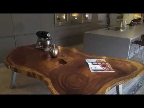 Live Edge Exotic Wood: Contemporary Furniture Ideas
