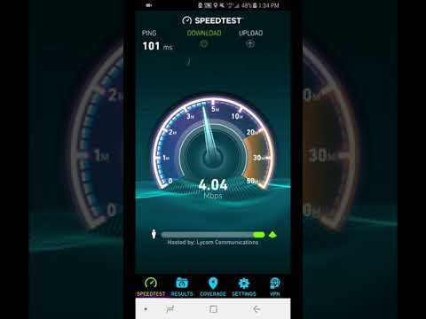 Verizon Page Plus Unlimited Speed test South Point Ohio