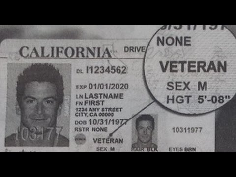 CALIFORNIA OFFERING ID'S MARKING VETERANS. POTENTIAL TOOL FOR TARGETING?