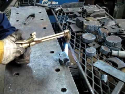 Using a cutting torch 1