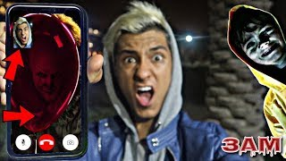 DO NOT FACETIME PENNYWISE FROM IT MOVIE AT 3AM!! *OMG HE ACTUALLY CAME TO MY HOUSE*