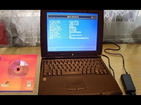 Windows XP upgrade on old laptop TM 507T (Celeron 466, 192 mb ram) step by step