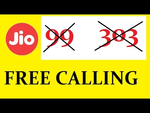 FREE CALLING IN JIO WITHOUT 99 RS AND 303 RECHARGE