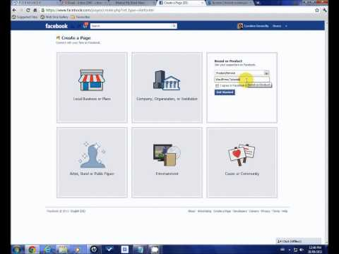 Create a Facebook Page and Vanity URL