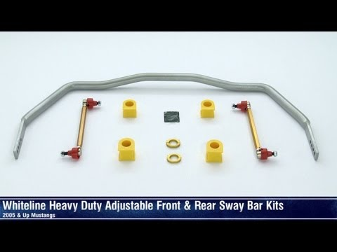 Mustang Whiteline Heavy Duty Adjustable Front and Rear Sway Bar (05-13 All) Review
