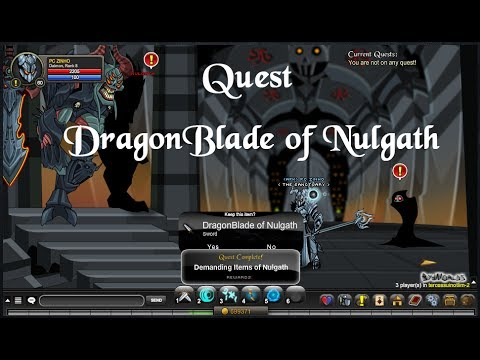 AQW - DragonBlade of Nulgath Finalmente Rápido