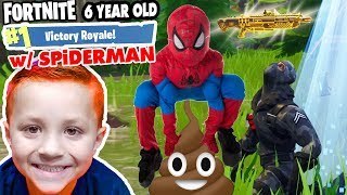 Download INSANE FORTNITE WIN! CLUTCH to the MAX! SPIDERMAN & 6 YEAR OLD CHASE VICTORY ROYALE Video