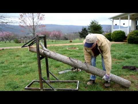 Homemade Steel SawBuck for cutting up logs and limbs safely.