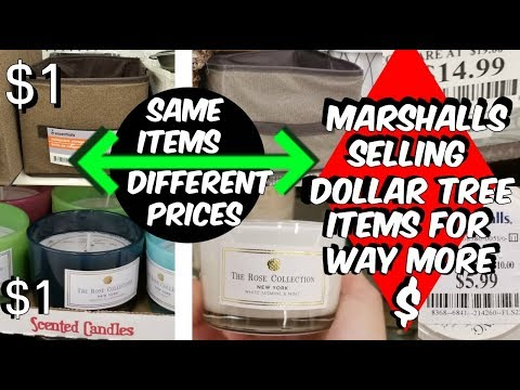 DOLLAR TREE HAUL + MARSHALLS SELLING DOLLAR STORE ITEMS FOR MORE THAN A $1
