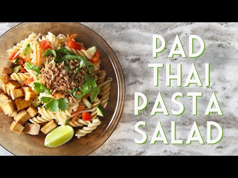 EASY PAD THAI PASTA SALAD With Crispy Tofu Bites