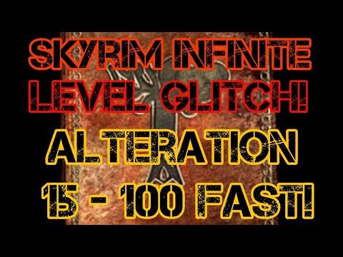 Skyrim Infinite Level Glitch/Level 100 Alteration | Fast and Easy