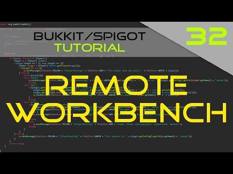 Minecraft Bukkit/Spigot Plugin Tutorial #32: Remote Crafting