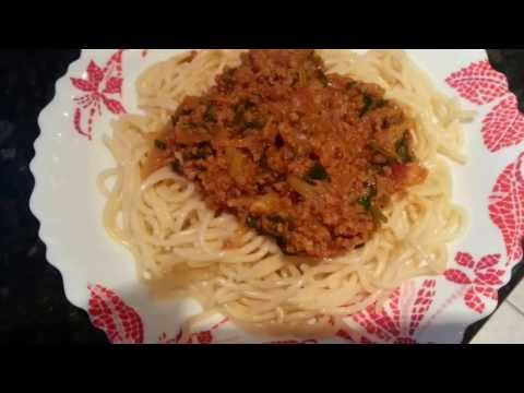 How to make Spaghetti Bolognese  - Indian Restaurant Cooking - Indian cooking -Pabda20