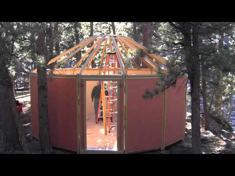 Freedom Yurt Cabins Assembly Overview - How to Build a Wood Yurt Cabin Kit in 3-5 Days