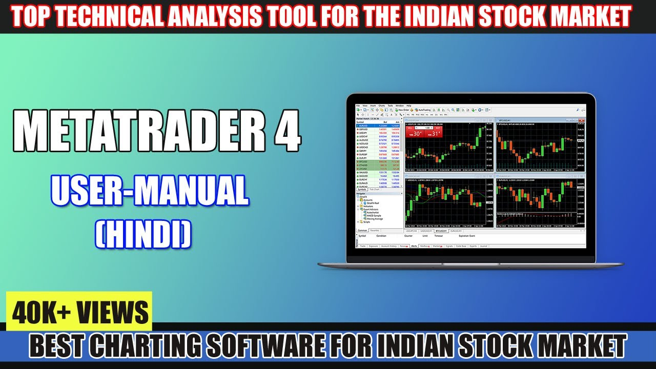 Best Charting Software for Indian Stock Market || How to Use MT4 in India  (Hindi)