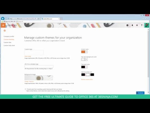Admins: How to Change Your Organization's Office 365 Theme