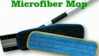 Environmentally Green Microfiber Mop cleans with only water, no chemicals