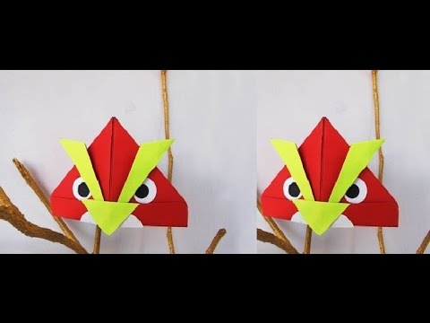 How to make a paper angry bird origami - Easy Tutorials (Origami)