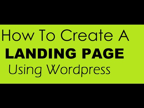 how to create a landing page using wordpress - WP Optins Tutorial