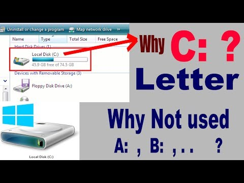Why used C: latter?? || how to change drive letter ?