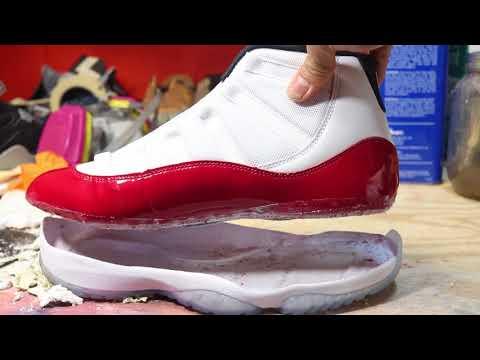 Jordan 11 Cherry Cleat Swap FAIL