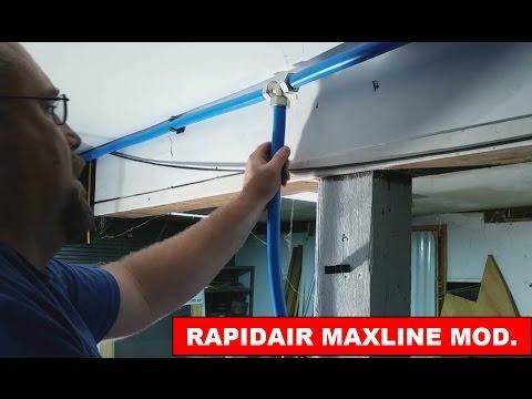 DIY Garage / Shop Air Lines - RapidAir Maxline adding a new air line drop
