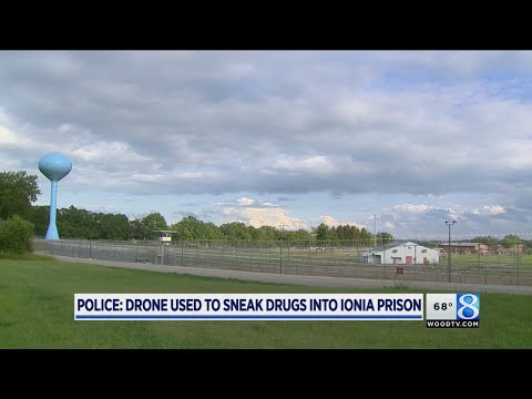 Incoming: Drone drug drop in prison third in a year