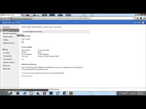 How To Change Your Xbox Live Account Information #2