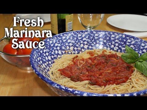 Marinara Using Fresh Garden Tomatoes