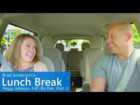 Brad Anderson's Lunch Break / s7 e6 / Peggy Johnson, EVP Business Development, Microsoft (Part 2)