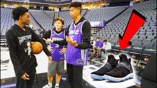 1v1 BASKETBALL WAGER vs. Future NBA SUPERSTAR De'Aaron Fox! LOSER BUYS ANY NIKES!