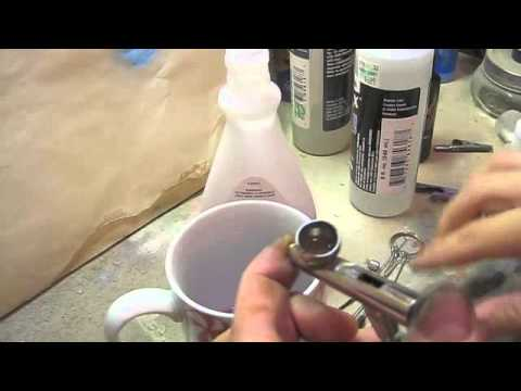 Cleaning Iwata BR airbrush