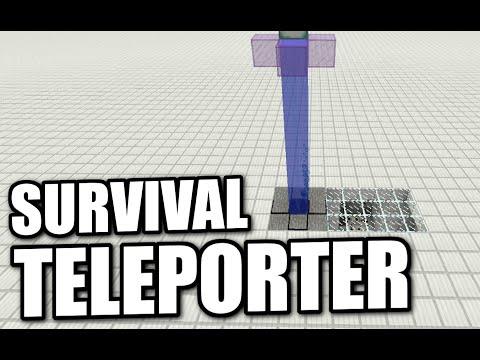 Minecraft - SURVIVAL TELEPORTER ( NO MODS ) Tutorial ( PE / XBOX / PS3 / WII U )