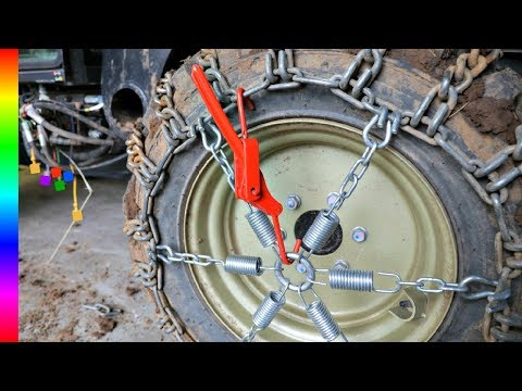 AMAZING Tire Chain Hack For Winter