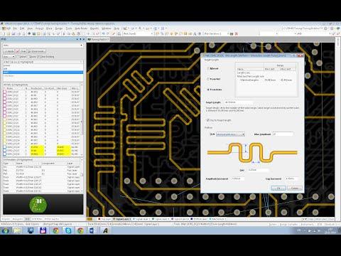 Altium Designer 14. Выравнивание длин цепей.