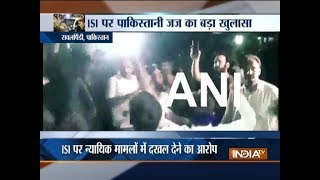 Pakistan: Protest against spy agency ISI outside army headquarters in Rawalpindi