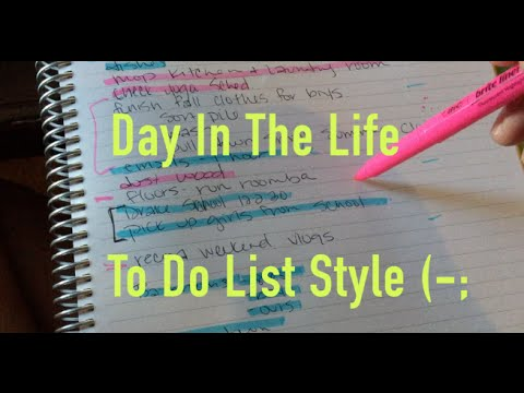 A Day In My Life, To-Do List Style | 9.15.16