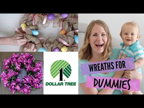 How to make Dollar Tree DIY Wreaths (easiest tutorial!)