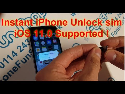 Instant iPhone Unlock Sim iOS 11 Tested and Working