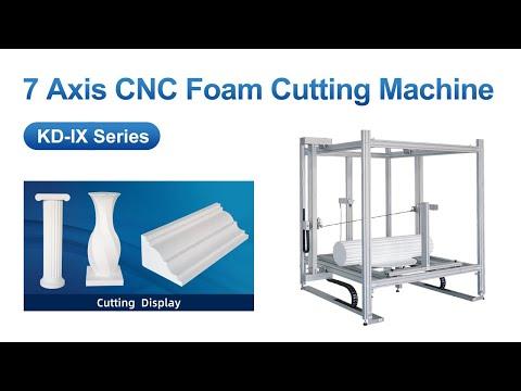 CNC Hot Wire Foam Cutter Roman Column Cutting——www.hot-knife.cn