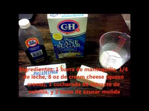 Frosting Crema Quezo (Cream Cheese Frosting) Facil y Rico!
