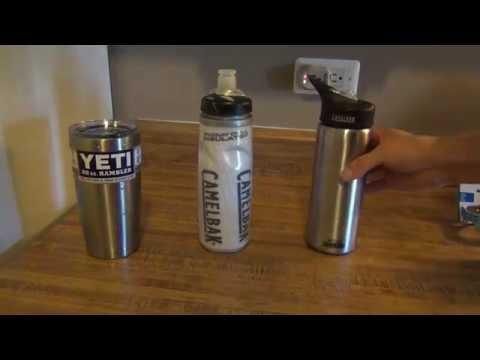 Camelbak Podium Chill & Camelbak Eddy Vacuum Insulated & Yeti Rambler Review & Testing
