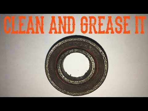 How To Un-Seize, Clean and Grease Sealed Bearings