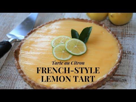 French Style Lemon Tart Step by Step (With Lemon custard)