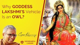 """Why goddess Lakshmi's Vehicle is an Owl""-Sri Guru Karunamaya."