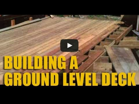 Build a Ground Level Cedar Deck