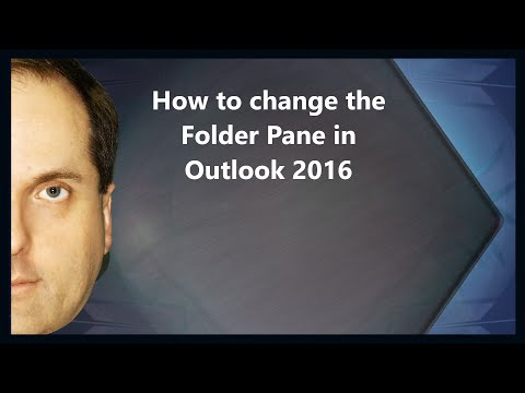 How to change the Folder Pane in Outlook 2016